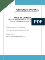 Influencia de La Quimica Analitica en El Proceso de Extraccion Del Hierro