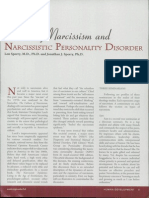 Healthy Narcissism and NPD, Sperry