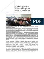 02-03-14 nss Gobierno de Oaxaca establece mecanismos de atención para el fraccionamiento