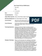 Strategic Change Profile and CBAM Analysis