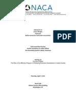 Congressional Testimony on SBA-8A Contracting NACA Lance-Morgan 20110407