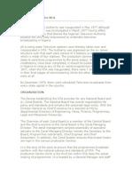 Brief History of the NTA