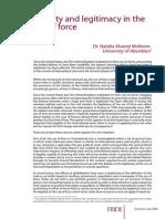 Legality and legitimacy in the use of force_Natalia Álvarez Molinero