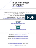 Personal Transformation Posttraumatic Growth And Gerotranscendence