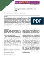 Intervertebral Disc Degeneration Evidence for Two