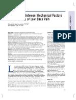 Relationship Between Mechanical Factors