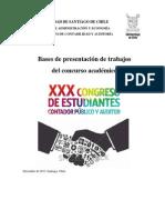 Bases Presentaciones de Trabajos CONECAC 2014 USACH