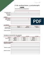 Cieps 2013 - Ficha de Atencion Psicoterapeutica