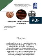 Consumo de Energia en la obtención de Aluminio