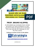 Maiores Dificuldade Processo Do Trabalho Bruno Klippel