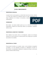 CARACTERISTICAS FIBROCEMENTO(1)