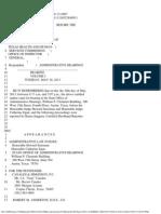 Vol. 1 Antoine Dental Centers vs. THHSC, OIG - Altenhoff and Tadlock