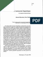 Bosredon y Tamba - L'autonymie linguistique Un exemple de transfert théorique