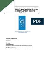Protocolo SESPO. Hipomineralizacion Incisivo Molar
