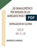 ANÁLISIS GRANULOMÉTRICO POR TAMIZADO DE LOS AGREGADOS FINOS [Modo de compatibilidad]