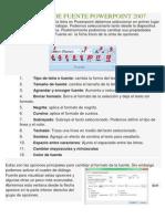 Formato de Fuente Powerpoint 2007