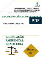 AULA LEGISLAÇÃO AMBIENTAL 2013.1