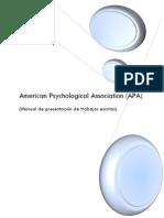 Manual American Psychological Association (APA)
