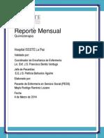 Reporte Mensual Quimioterapia