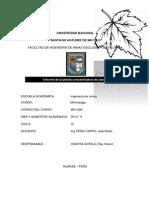 Informe de La Planta Concentradora de Jangas