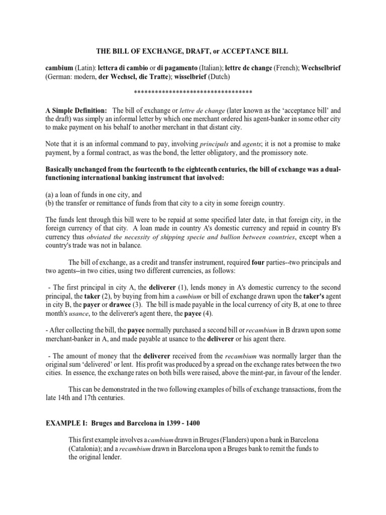 Bill of exchange sample negotiable instrument payments altavistaventures Images