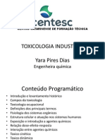Toxicologia Industrial 2014 -Parte1