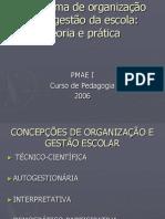 O sistema de organização  e de gestão da escola 2º Pedagogia.ppt