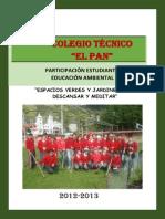 INFORME FINAL PARTICIPACIÓN ESTUDIANTIL 2012-2013 COLEGIO EL PAN