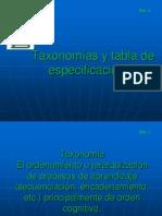 2 Taxonomias y Tabla de Especificaciones