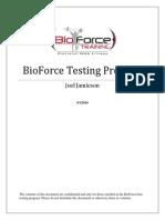 BioForce BetaTesting Protocols