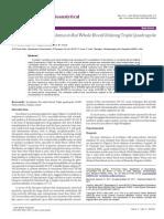 Determination of Tacrolimus in Rat Whole Blood Utilizing Triple Quadrupole