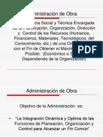 Administracion de Obra
