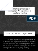 Presentasi first Principles of Instructional by M David Merril