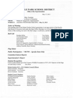RP BOE Meeting Agenda (May 17, 2013)