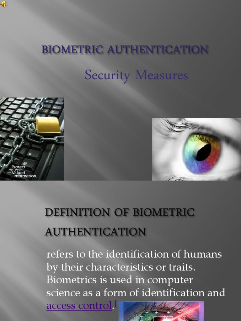 Biometric Authentication 24