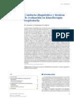 Conducta  diagnóstica  y  técnicas de evaluación en kinesiterapia respiratoria