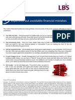 5 Expensive but Avoidable Financial Mistakes