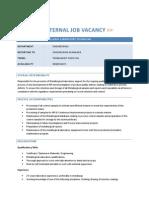 Internal Job Vacancy