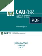 CENSO CAU/BR 2012