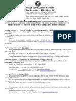 October Activity Sheet