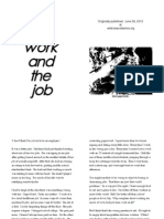 The Work and the Job Draft