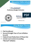 WPS FY15 Preliminary Budget Estimates