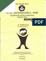 SOLUSI OSN MAT SMP 2014