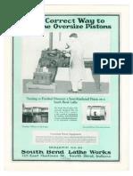 1925 - The Correct Way to Machine Oversize Pistons - Bulletin No 85