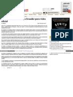 Peña Nieto inicia viaje a Ecuador para visita oficial