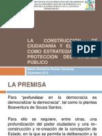 LA CONSTRUCCIÓN DE CIUDADANÍA Y EL CONTROL COMO
