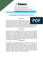 Decreto 32-2005 Ley de Seguridad Alimentaria y Nutricional