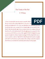 The Vanity of the Rat