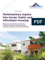 Housing Alliance Submission to the NSW Parliamentary Inquiry Into Social, Public & Affordable Housing (25-Feb-2014)