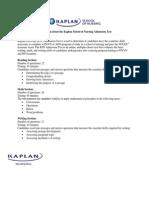 Kaplan School of Nursing Admission Test Information